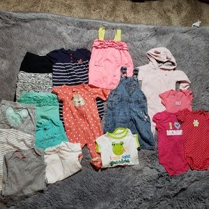 Bundle of girls clothing 6 months MK